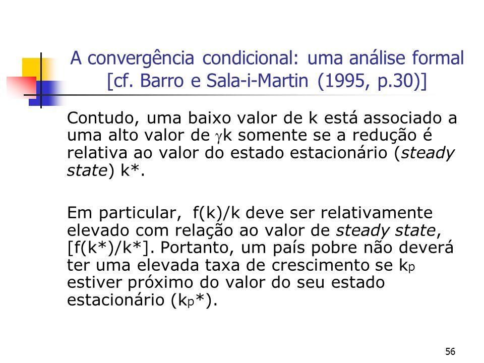 A convergência condicional: uma análise formal [cf